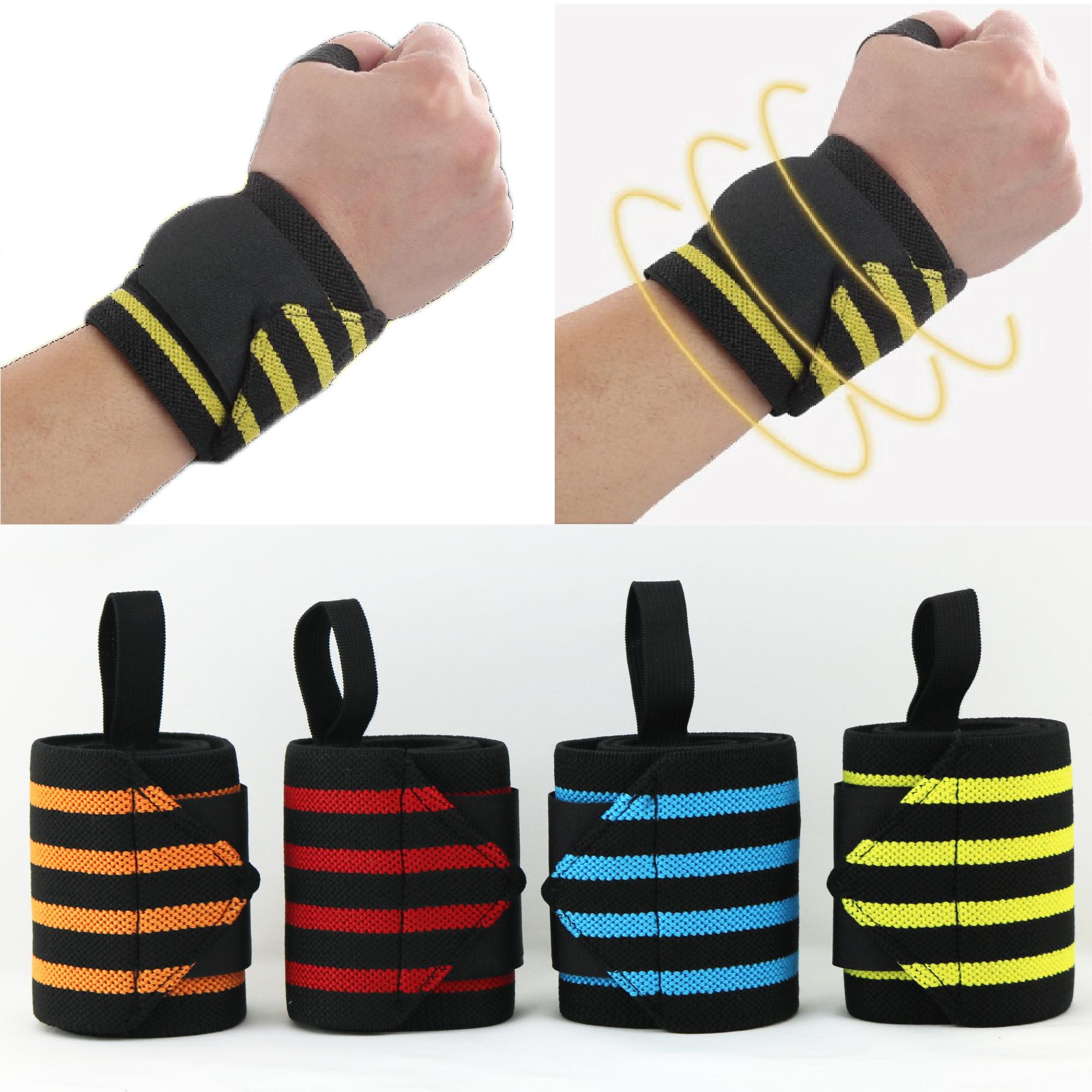 【珍昕】纏繞加壓綁帶護腕~4色可選(約8*30cm)舉重護手腕/運動護腕 (1雙2入)