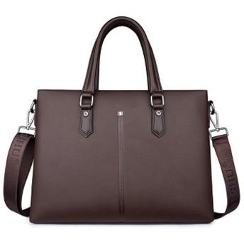 MCMC新しいメンズバッグ、革製のハンドバッグ、ビジネスメンズハンドバッグ、クロスボディバッグ、ブリーフケース、ショルダーバッグ、-brown