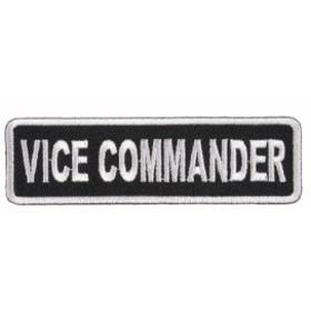 ミリタリーパッチ VICE COMMANDER アイロンシート付[p3978]