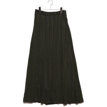 スタイルブロック STYLEBLOCK 模様編みマーメイドスカート (カーキ)
