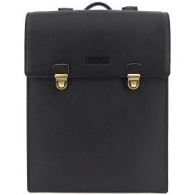 (ロトプ) LOTUFF 一眼レフバックパック カメラバッグ デイパックLO-4102 男女兼用 (Lotuff Unisex Leather Camera Backpack) ブラック [並行輸入品]