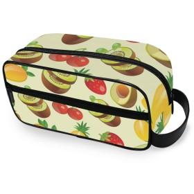 USAKI 化粧ポーチ 小物入れ 機能的 イチゴ 果物 トラベルポーチ 大容量 おしゃれ コスメポーチ 化粧バッグ 化粧品収納 出張 旅行