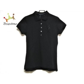 ラルフローレン RalphLauren 半袖ポロシャツ サイズL レディース 美品 ビッグポニー 黒 ビーズ 新着 20190923