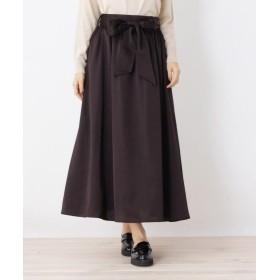 オペークドットクリップ サテン×Aラインスカート レディース ディープブラウン(044) 38(M) 【OPAQUE. CLIP】