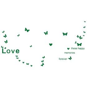 uxcell 繊細な蝶柄のウォールステッカー取り外し可能なアート壁画紙リビングルームのベッドルーム TVウォールステッカー用室内装飾 緑