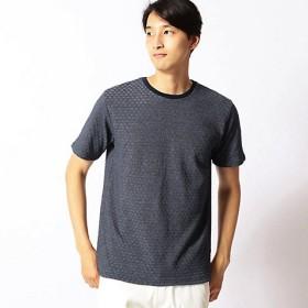【SALE(伊勢丹)】<COMME CA MEN > 市松リンクスジャカードTシャツ(0742TF15) アオ【三越・伊勢丹/公式】