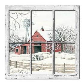 なまけ者雑貨屋 アメリカン 雑貨 ナンバープレート [Winter Barn Layered ] ヴィンテージ風 ライセンスプレート メタルプレート ブリキ 看板 アンティーク レトロ