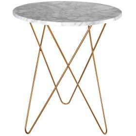 XZGang 大理石のテーブル、リビングルームのベッドルームバルコニー多機能クリエイティブラウンドテーブルのリビングルームバルコニーテーブル シンプルな人生を創造する (サイズ さいず : 4060CM)