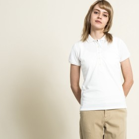 AIGLE レディース レディース 吸水速乾 マリン ポロシャツ ZPF3200 white (001) シャツ・ポロシャツ