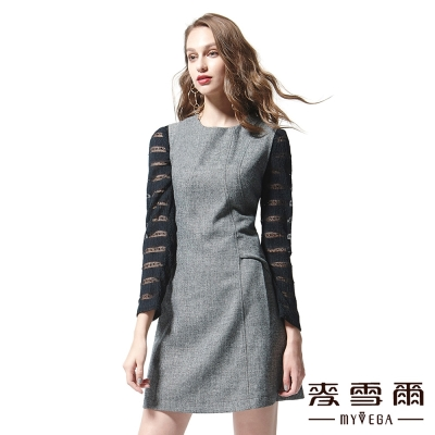 麥雪爾 圓領素面羊毛背心洋裝