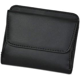 レディース二つ折り財布 ブラック