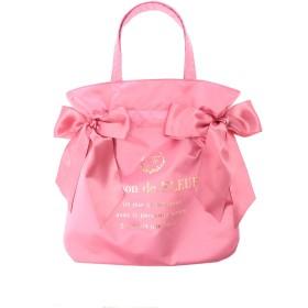 【6,000円(税込)以上のお買物で全国送料無料。】ダブルリボントートバッグ