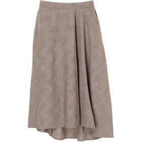 【6,000円(税込)以上のお買物で全国送料無料。】イレヘム切替フレアスカート