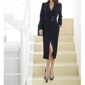 [55555SHOP] 日常作業、オフィスウーマン、欠かせない服職場 OL 気質 女神ファン 秋の服 女性 婦人服 おしゃれな ホワイトカラー プロのワンビース