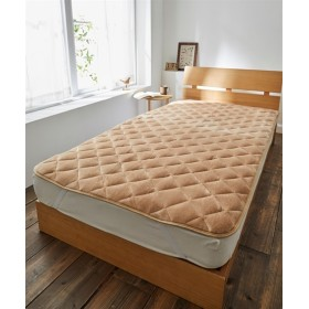 【ボリュームアップ】ウォームコア 吸湿発熱×蓄熱保温わた あったかフランネル中わたボリューム敷パッド 敷きパッド・ベッドパッド, Bed pats, 床套