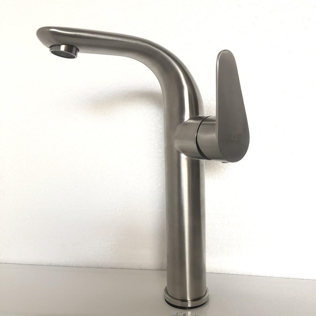 Cozy衛浴 高級不鏽鋼檯面龍頭 型號 CY-S66021 不鏽鋼 衛浴面盆冷熱水龍頭 含所有配件