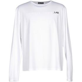 《期間限定セール開催中!》LAB. PAL ZILERI メンズ T シャツ ホワイト 60 コットン 95% / ポリウレタン 5%