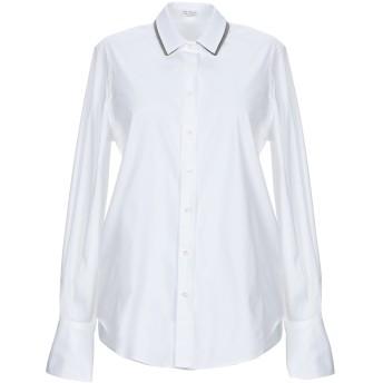 《セール開催中》BRUNELLO CUCINELLI レディース シャツ ホワイト XL コットン 72% / ナイロン 23% / ポリウレタン 5% / 真鍮/ブラス