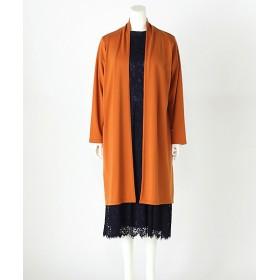 <ラ・クープ> 大きいサイズ ★ロングカーデ(3193908)(クローバープラス) オレンジ【三越・伊勢丹/公式】