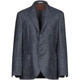 《期間限定セール開催中!》BRUNELLO CUCINELLI メンズ テーラードジャケット ブルー 52 毛(アルパカ) 41% / バージンウール 39% / ナイロン 20%
