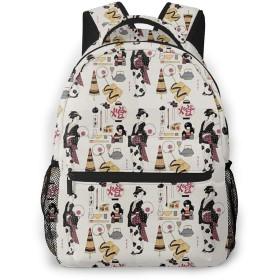 バックパック 歌舞伎 PCリュック ビジネスリュック バッグ 防水バックパック 多機能 通学 出張 旅行用デイパック