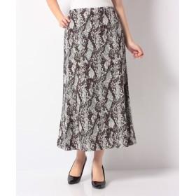 【30%OFF】 ロアナ パイソンPt. Aラインスカート レディース グリーン系 F 【LOANA】 【セール開催中】