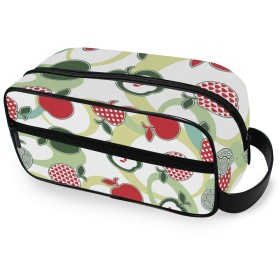 USAKI 化粧ポーチ 小物入れ 機能的 果物 林檎テーマ トラベルポーチ 大容量 おしゃれ コスメポーチ 化粧バッグ 化粧品収納 出張 旅行
