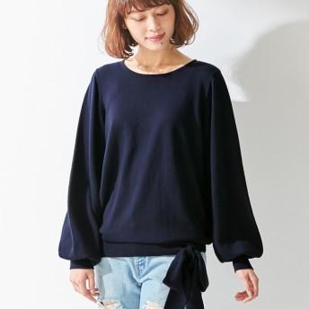Viola e Viola 綿100%裾リボンデザインセーター