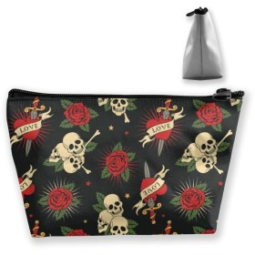 Cosmetic Bag - Travel Toiletry Pouch Makeup with Zipper (Pineapple Pattern)