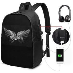 リュック 大容量 多機能 エアロスミス Aerosmith バックパック 男女兼用 リュックサック ファッション パソコン USB充電ポートビジネスリュック お出かけ/通勤/お出産祝い/旅行/花見/通勤/旅行