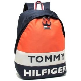 「P10%還元 12/5 12時〜24時」 【返品OK】 トミーヒルフィガー リュック バックパック メンズ レディース TOMMY HILFIGER TC980AE9 NAVY/WHT/ORANGE マルチ