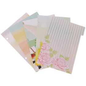 Lamdoo Folder Tabs 5個フラワーディバイダーDokibook Notebook Planner A5 A6用アクセサリInner page 2 A5