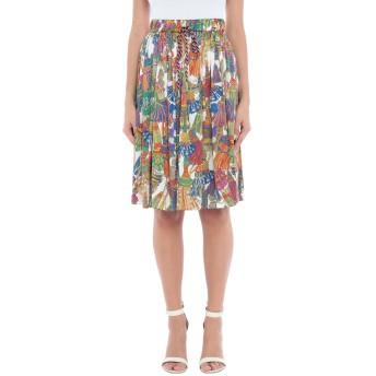《セール開催中》SHIRTAPORTER レディース ひざ丈スカート グリーン 40 シルク 96% / ポリウレタン 4%