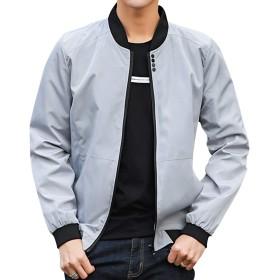 kiden ジャケット メンズ おおきいサイズ ma-1 エムエーワンジャケット フライト 長袖 カジュアル ブルゾン おしゃれ 薄手 アウター 上着 大きいサイズ 春 秋 灰3XL