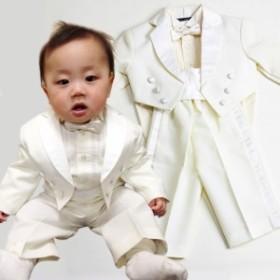 【子供USAスーツレンタル】1才、白、タキシード、結婚式、発表会【往復送料無料】kt-nt-fg141