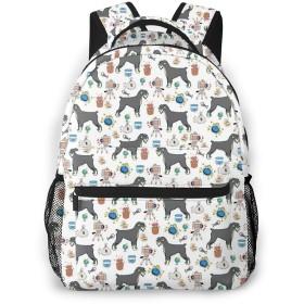 バックパック シュナウザー犬 Pcリュック ビジネスリュック バッグ 防水バックパック 多機能 通学 出張 旅行用デイパック