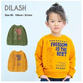 ディラッシュ ロゴプリントトレーナー レディース マスタード 80 【DILASH】