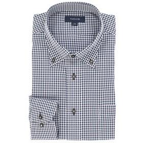 【TAKA-Q:トップス】形態安定レギュラーフィット ボタンダウン長袖ビジネスドレスシャツ/ワイシャツ