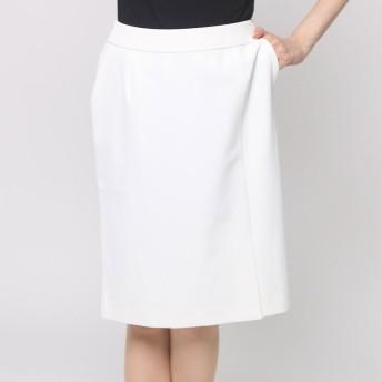 ファインセレクション FINE SELECTION 前スリットタイトスカート (オフホワイト)