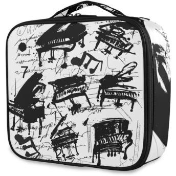 KAPANOU プロ用 メイクボックス 白い背景の象徴的なイメージピアノ 多機能 高品質 美容師 マニキュリスト 刺青師 専用 化粧ボックス メイクアップアーティスト 収納ケース メイクブラシ 化粧道具 大容量