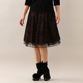 【SALE(伊勢丹)】<TO BE CHIC/TO BE CHIC> ラッセルレーススカート(W5S10831__) パーブル【三越・伊勢丹/公式】