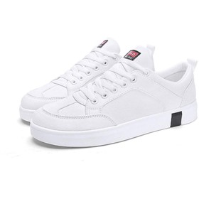 [SENNIAN] レースアップシューズ スニーカー ウォーキングシューズ メンズ ドライビングシューズ 軽量 靴 キャンパス生地 26.5cm 防臭 抗菌 紐靴 履き心地が良い ローカット デッキシューズ 帆布 ホワイト ファツションスニーカー カジュアル