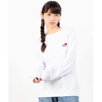 WEGO WEGO/コンバース別注シューズ刺繍プルオーバースウェット(ホワイト)【返品不可商品】