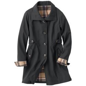 【レディース】 裏フリースボンディングコート(撥水・手洗いOK) ■カラー:ブラック ■サイズ:M,L,LL,3L