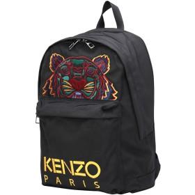 《期間限定セール開催中!》KENZO レディース バックパック&ヒップバッグ ブラック ポリエステル 72% / ナイロン 28%