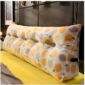長い枕クッションを強化する三角大きなウェッジ枕、ヘッドボードの読書は、オフィスのベッドのソファーのための腰パッドを支えます M (Color : 4, Size : 605022cm)