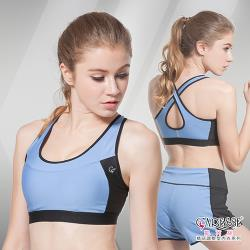 凱芮絲(S-XXL)MIT精品-1503 動塑律感運動內衣 藍色