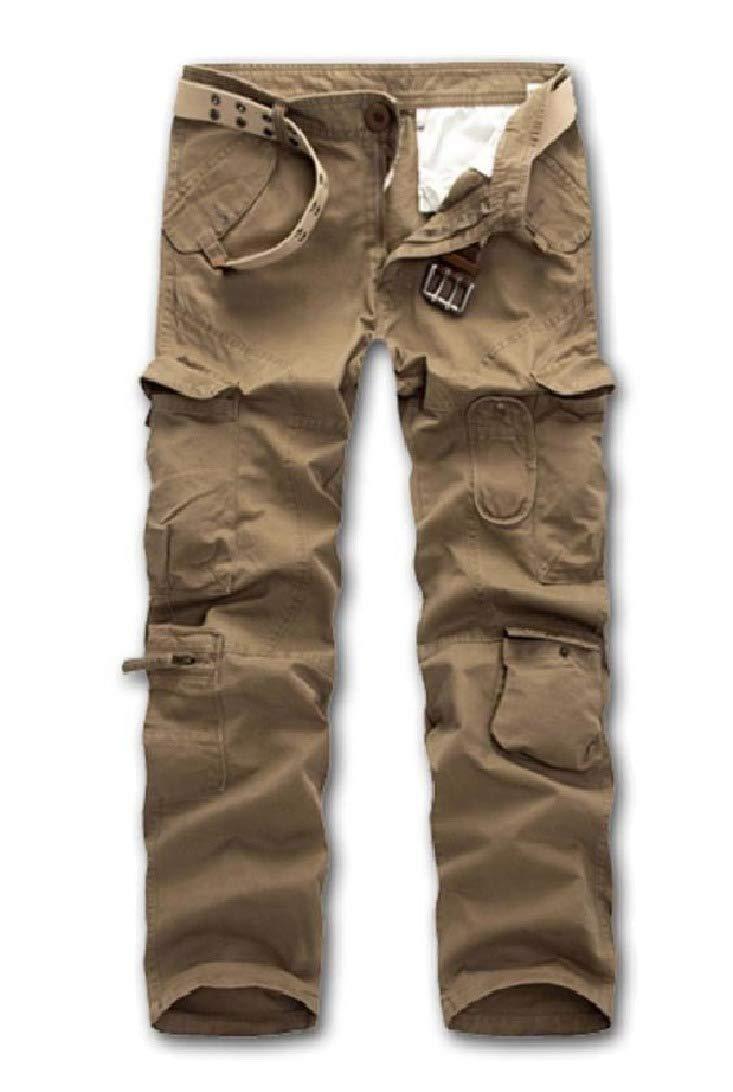 VITryst-Men Outdoor Straight Climbing Plus Size Trousers Pants