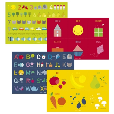 JAKO-O德國野酷 兒童教育學習餐墊四片組