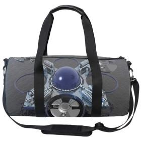 ダッフルバッグ 3Dパターン シューズ収納 ボストンバッグ 撥水ナイロン 旅行/ジム/防災